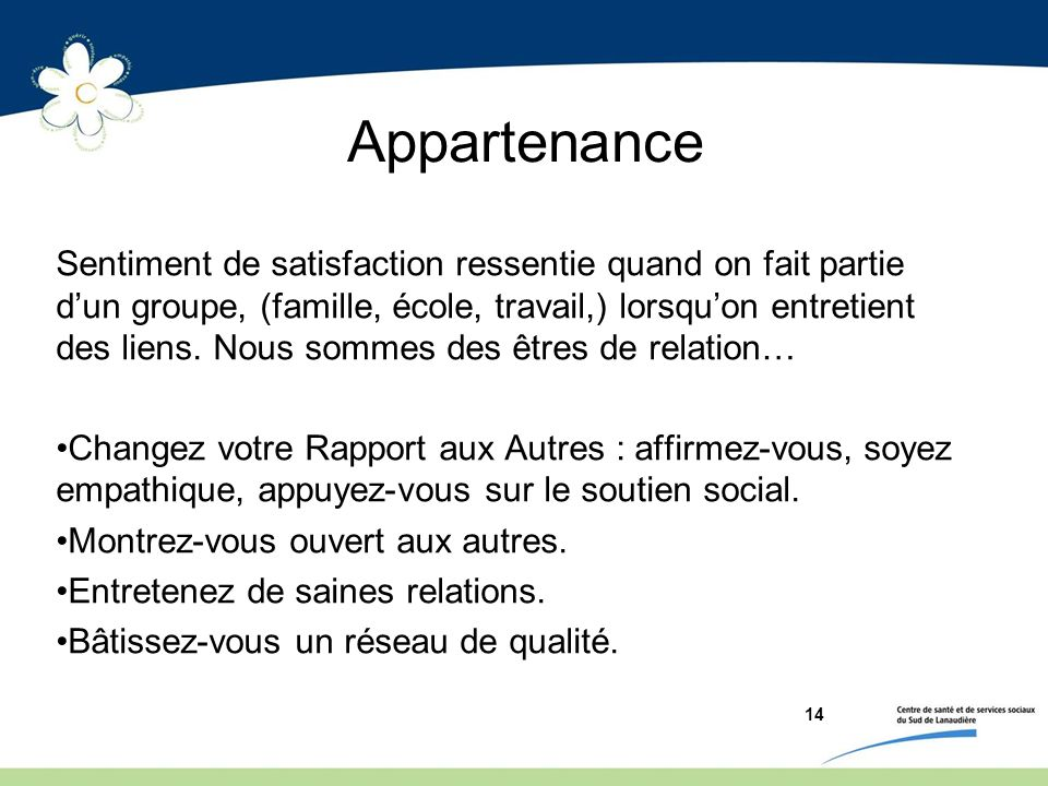 Appartenance