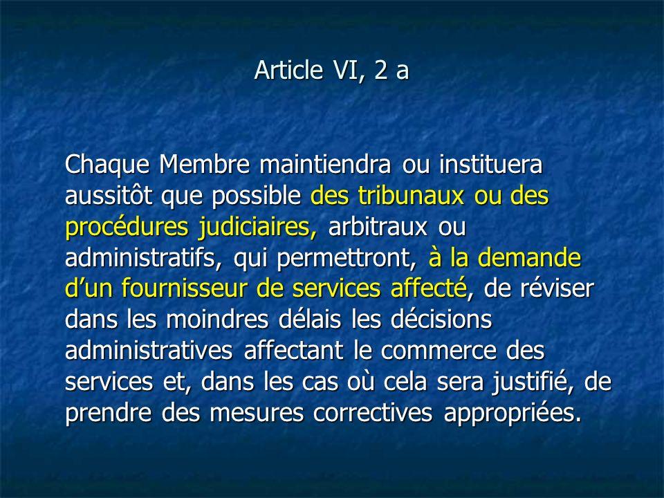 Article VI, 2 a