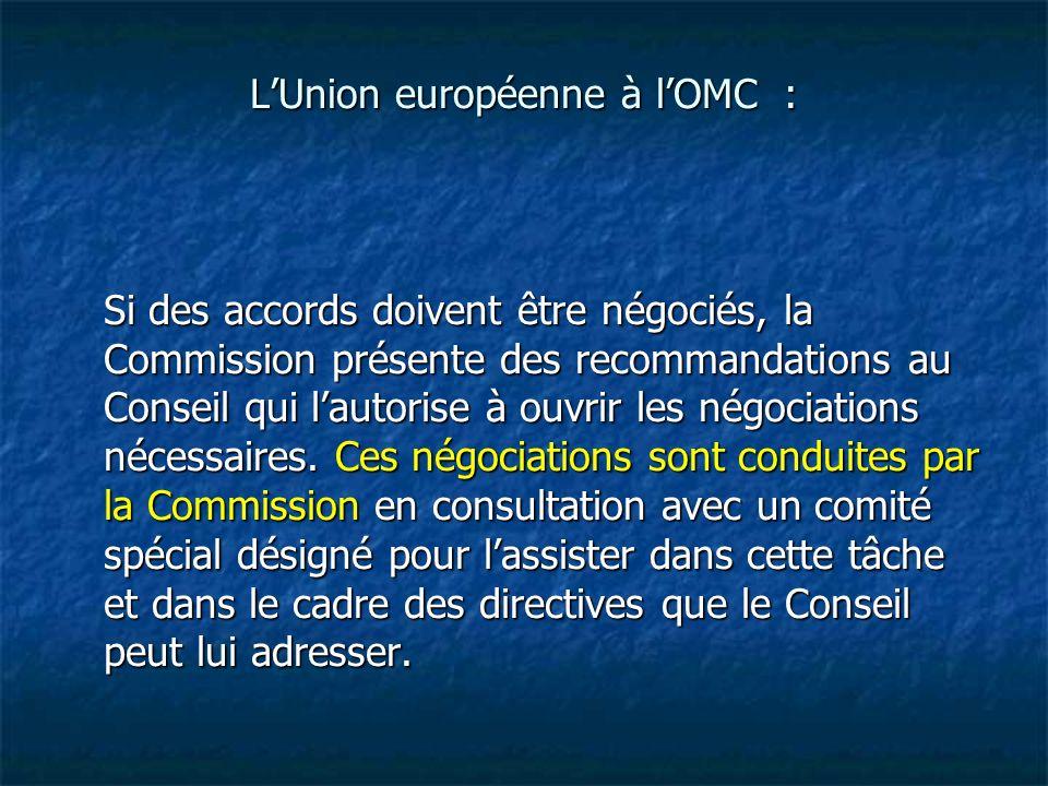 L'Union européenne à l'OMC :