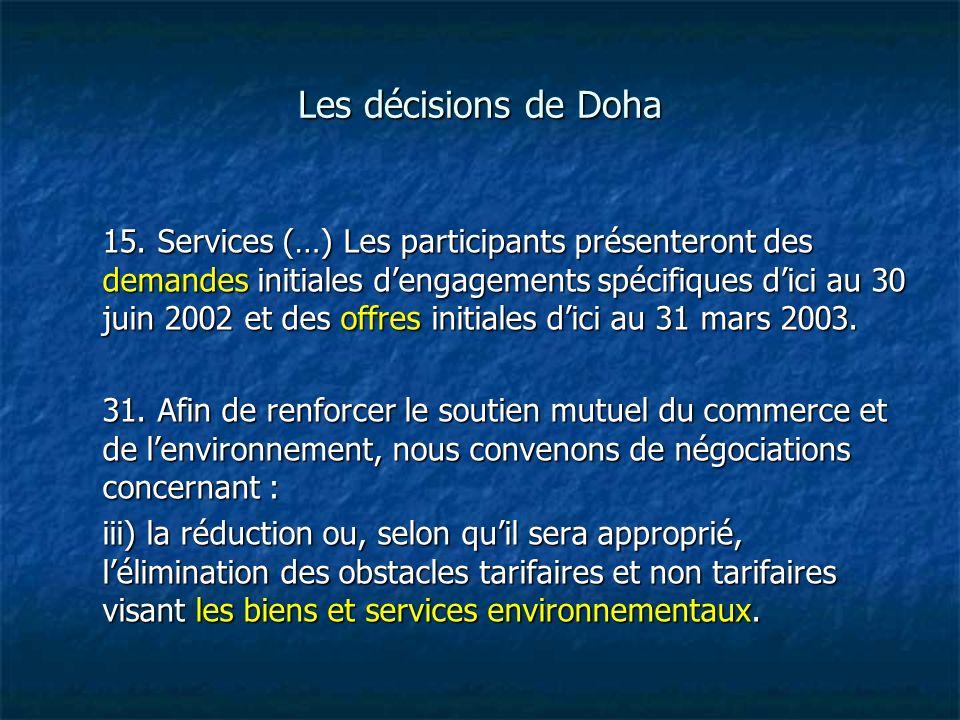 Les décisions de Doha