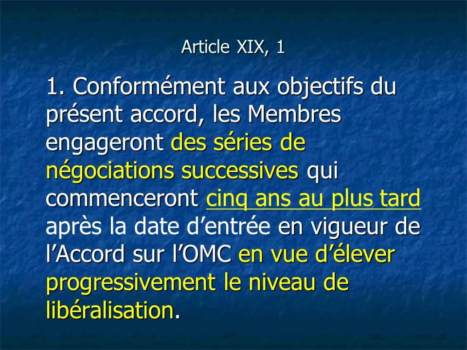 Article XIX, 1