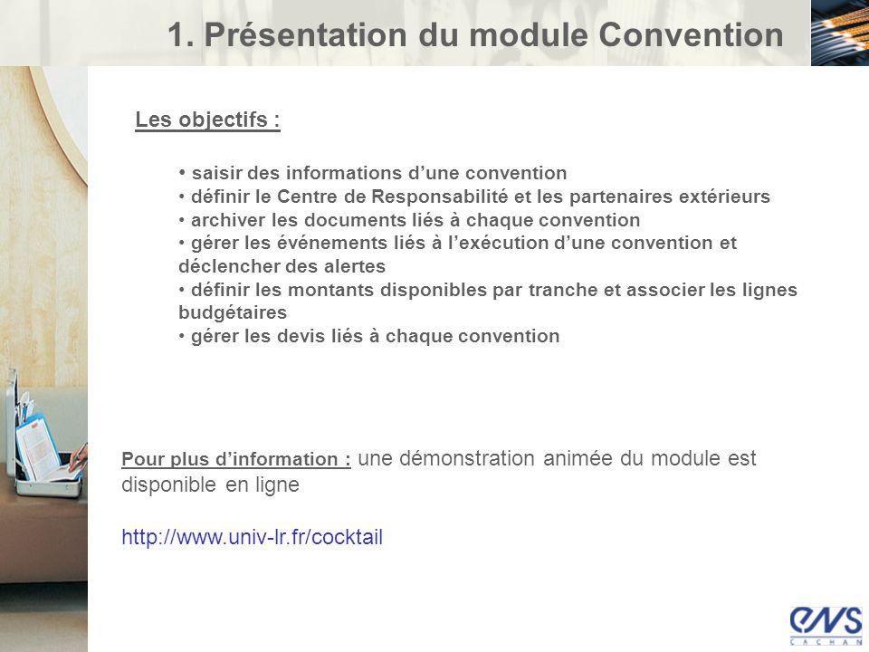 1. Présentation du module Convention
