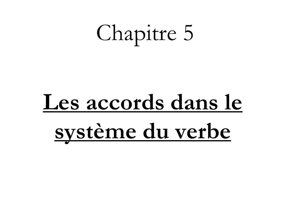 Les accords dans le système du verbe