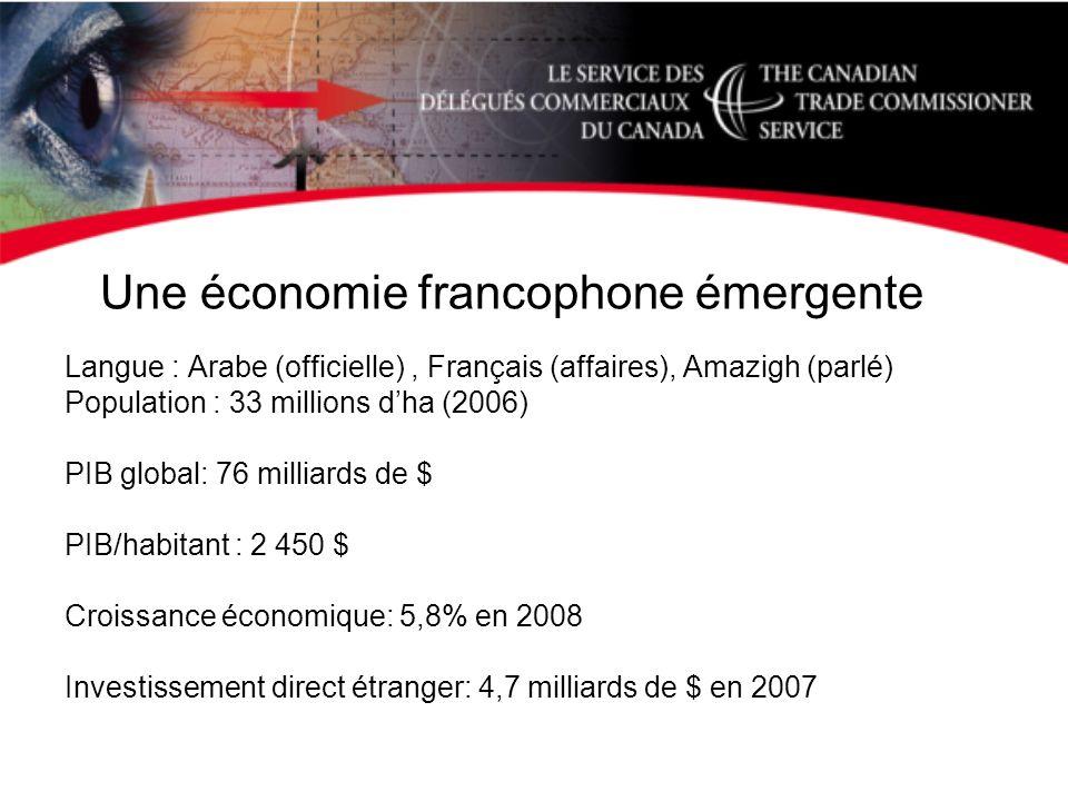 Une économie francophone émergente