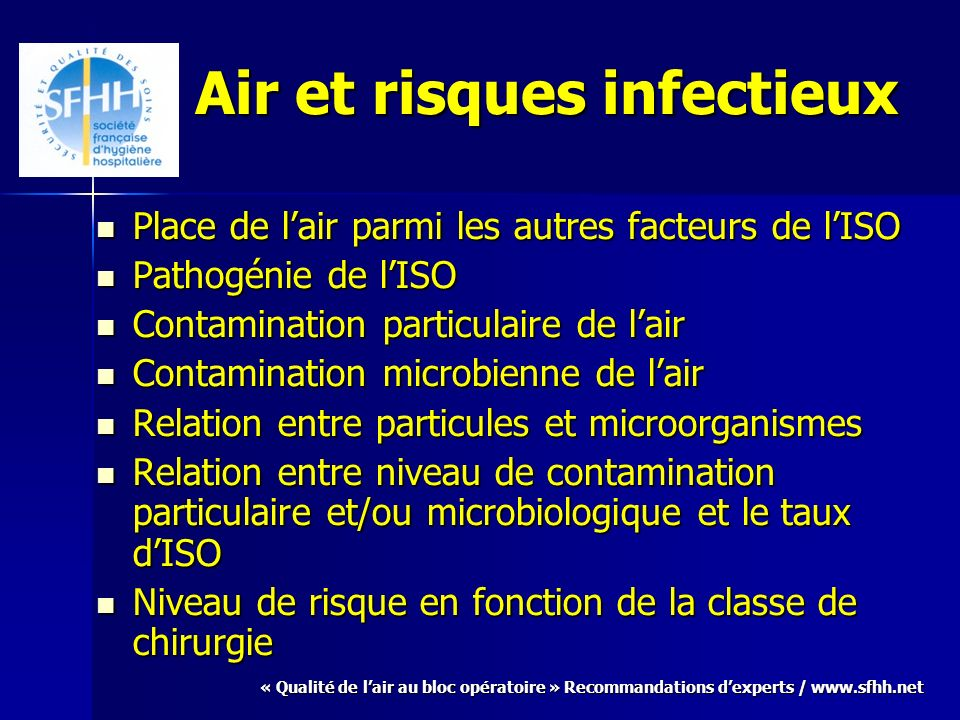 Air et risques infectieux