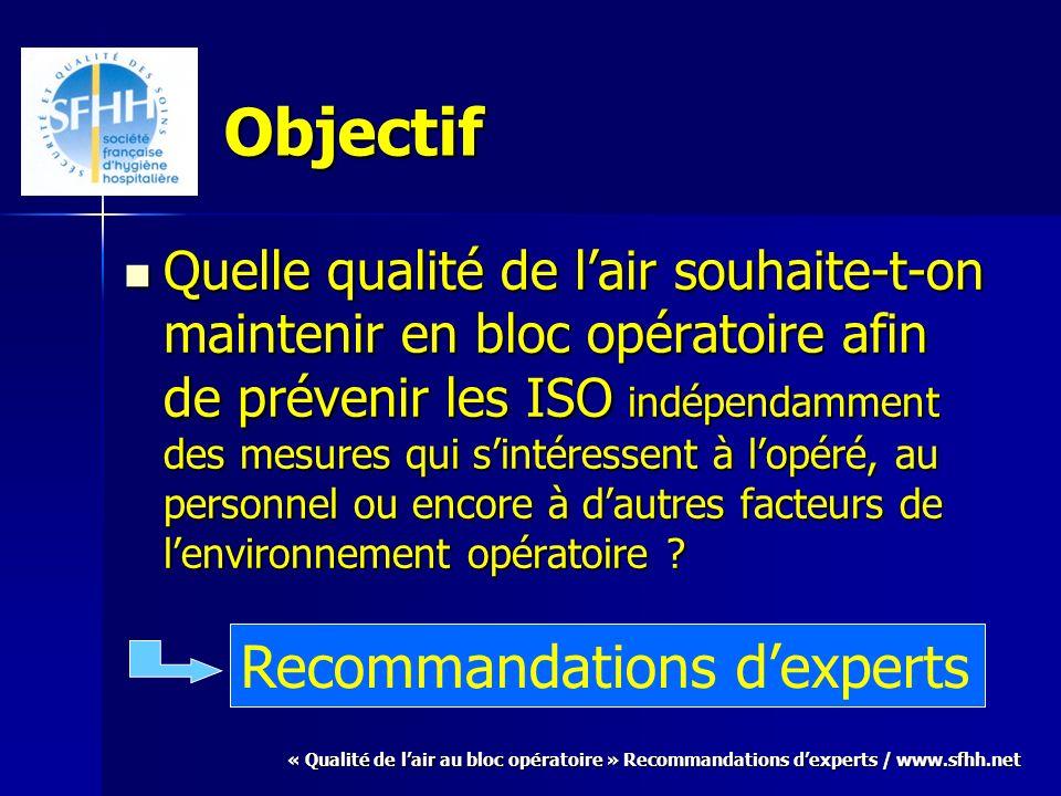 Objectif Recommandations d'experts