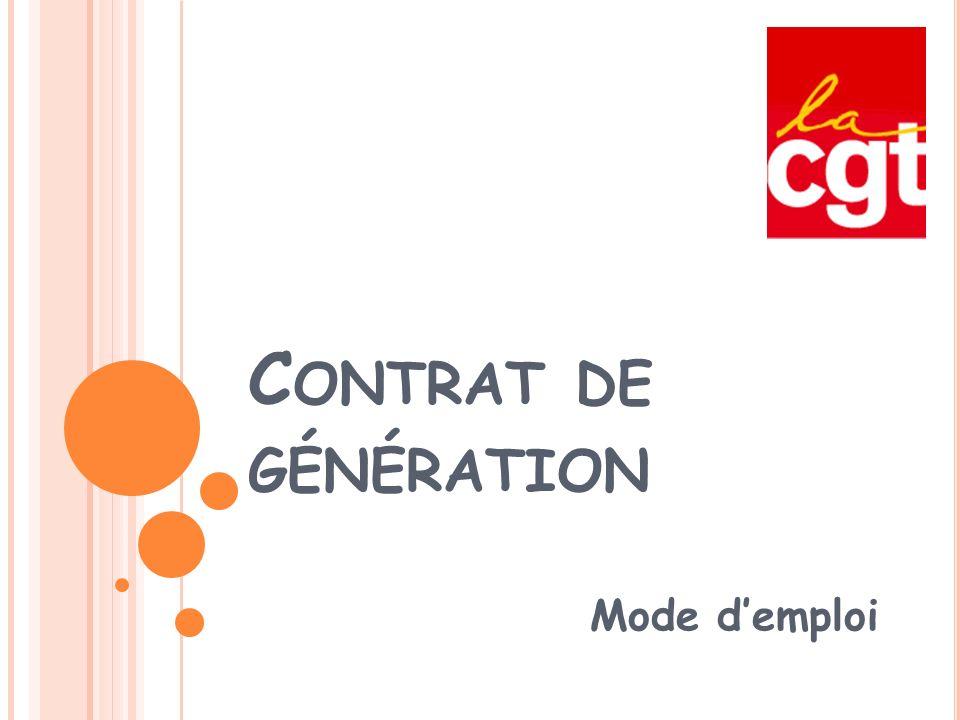 Contrat de génération Mode d'emploi
