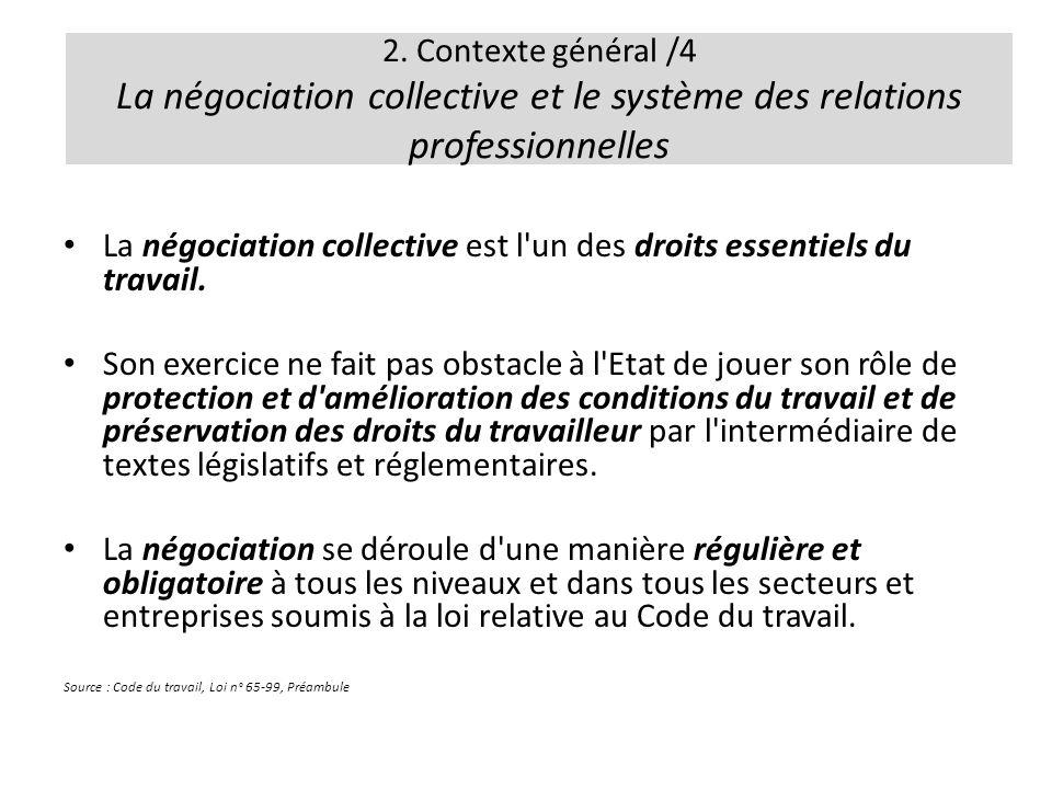 La négociation collective est l un des droits essentiels du travail.