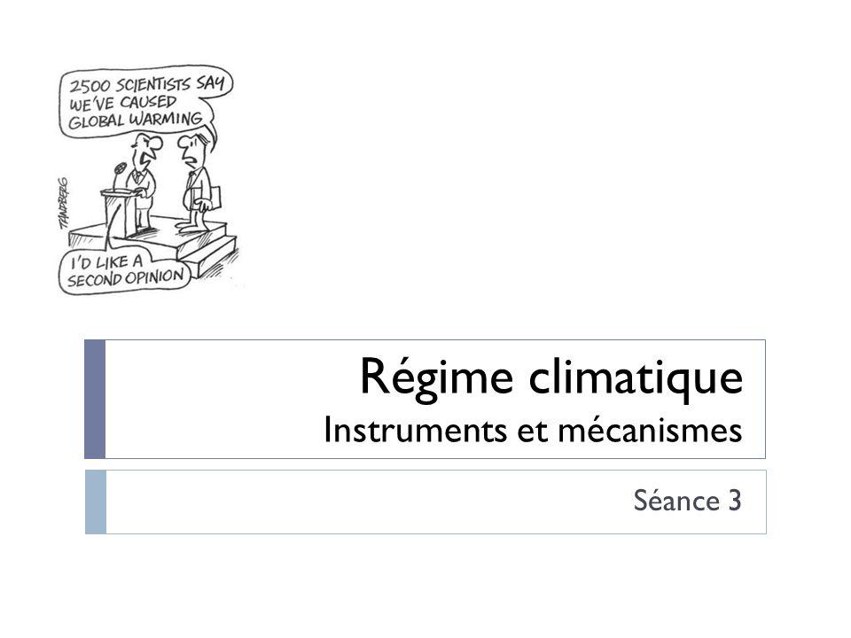Régime climatique Instruments et mécanismes
