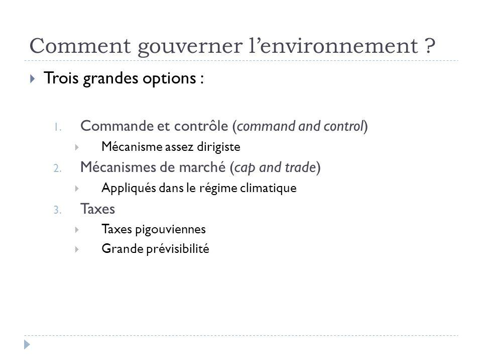 Comment gouverner l'environnement