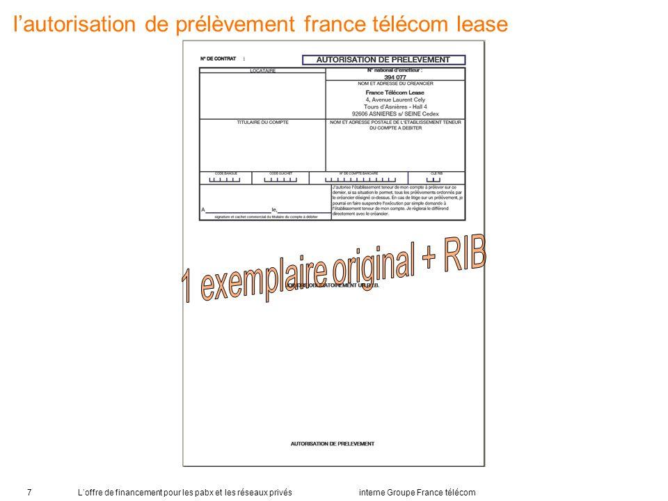 1 exemplaire original + RIB