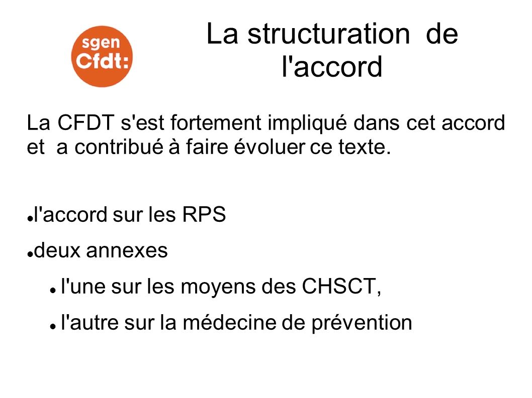 La structuration de l accord