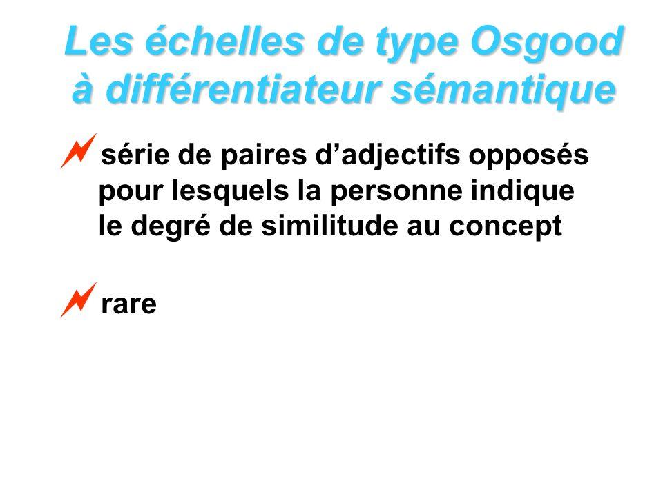 Les échelles de type Osgood à différentiateur sémantique