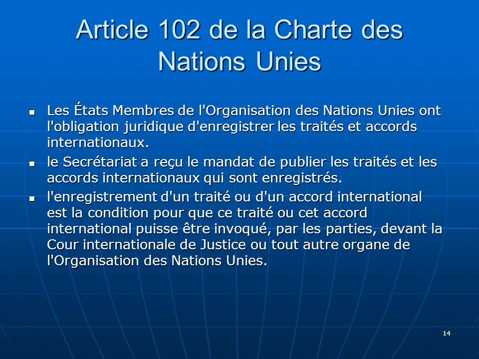 Article 102 de la Charte des Nations Unies