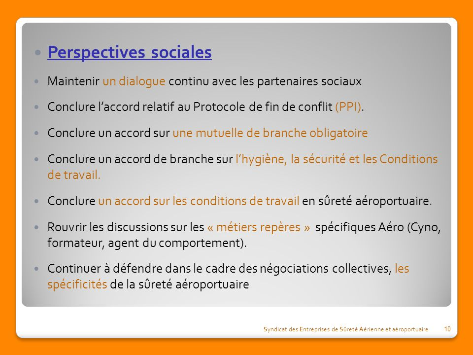 Perspectives sociales