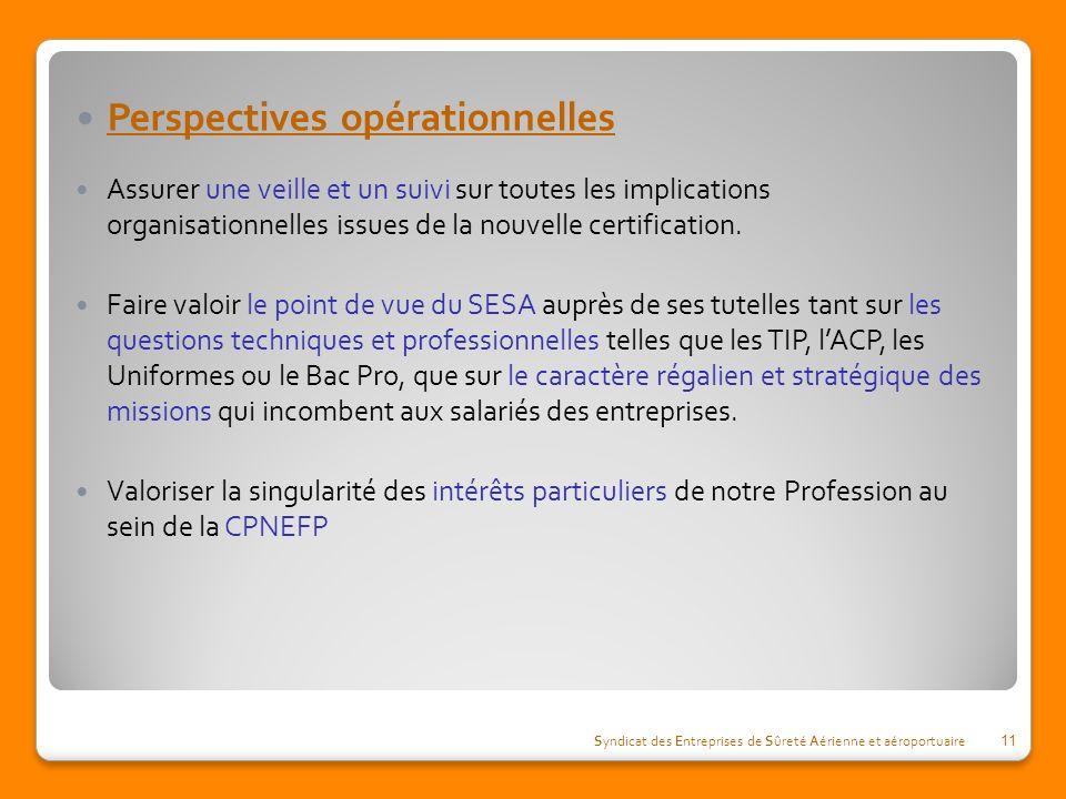 Perspectives opérationnelles