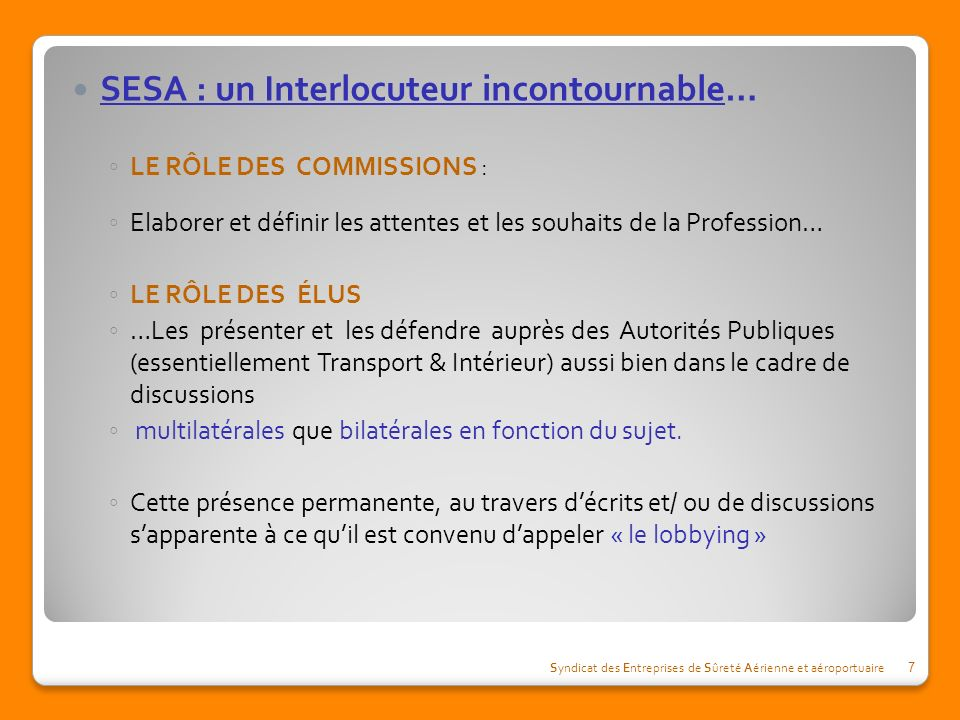 SESA : un Interlocuteur incontournable…