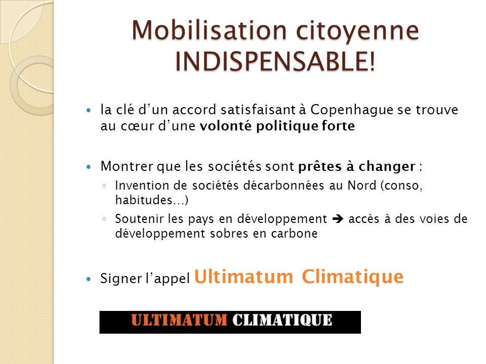 Mobilisation citoyenne INDISPENSABLE!