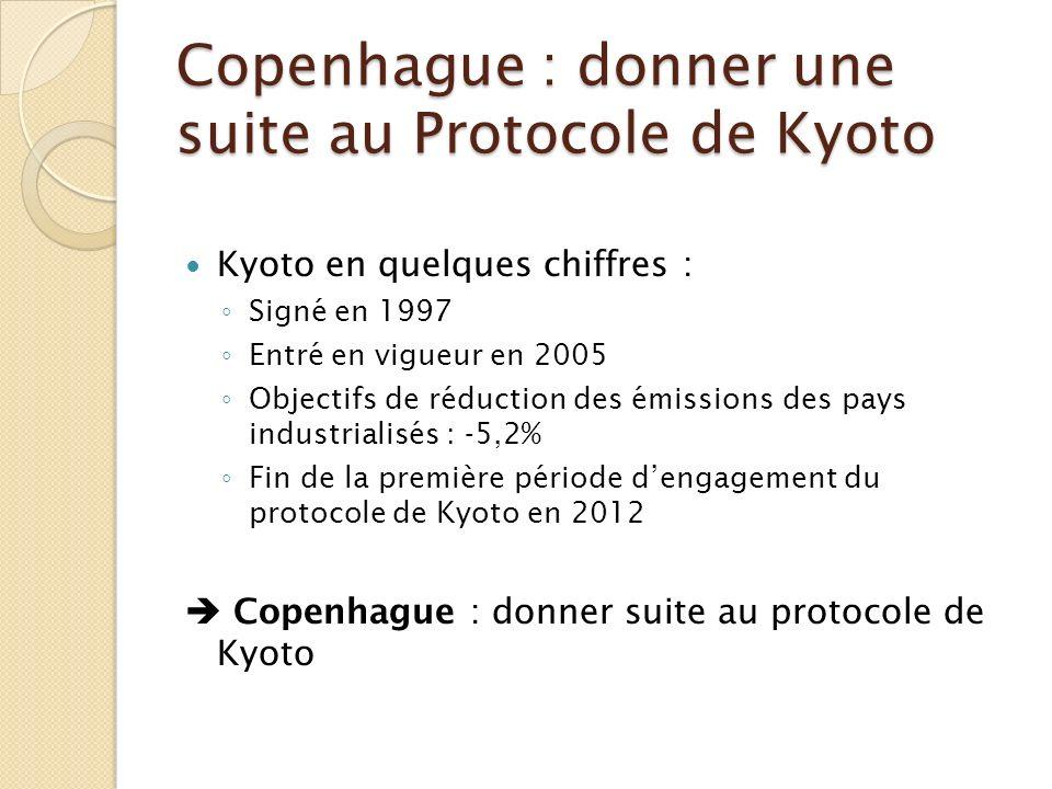 Copenhague : donner une suite au Protocole de Kyoto