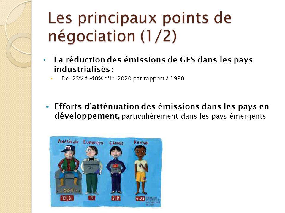 Les principaux points de négociation (1/2)
