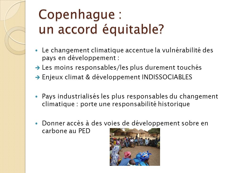 Copenhague : un accord équitable