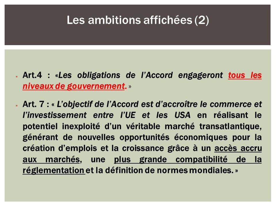Les ambitions affichées (2)