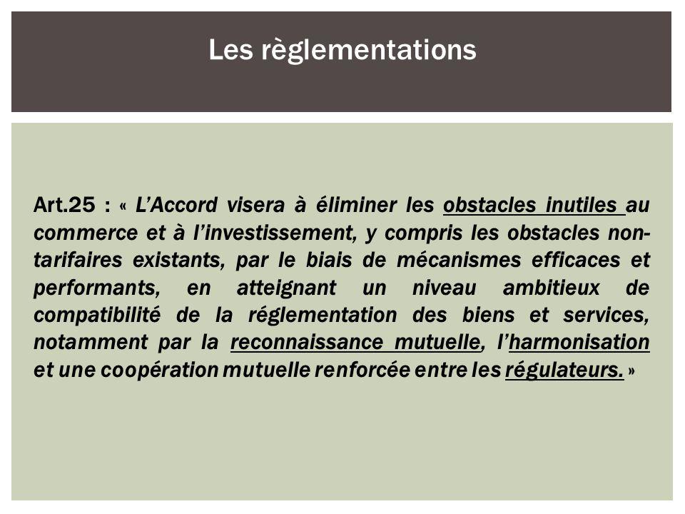 Les règlementations