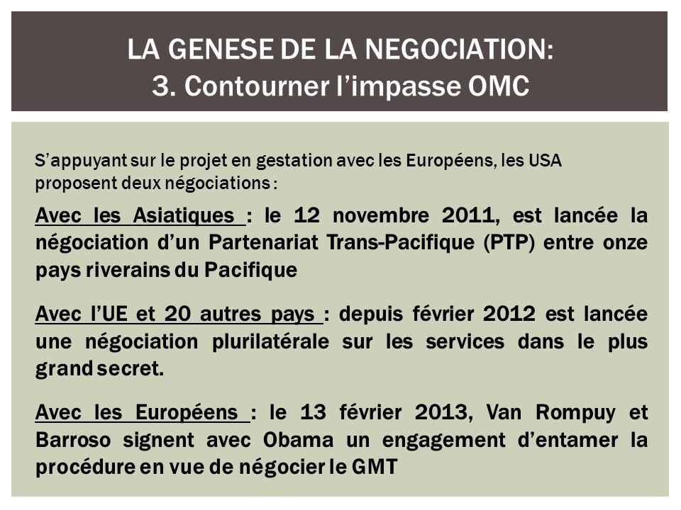 LA GENESE DE LA NEGOCIATION: 3. Contourner l'impasse OMC