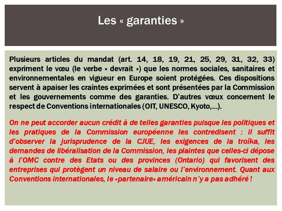 Les « garanties »