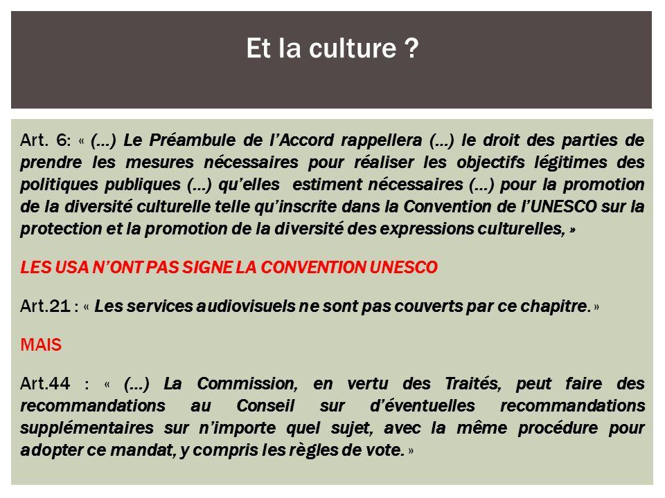 Et la culture
