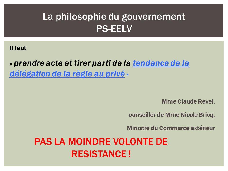 La philosophie du gouvernement PS-EELV