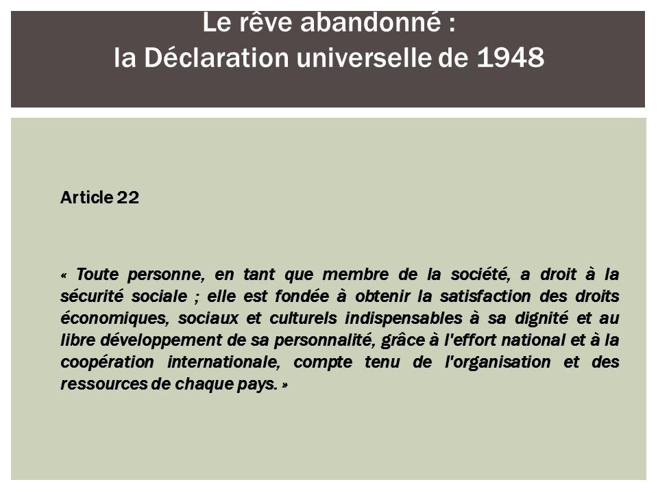 Le rêve abandonné : la Déclaration universelle de 1948