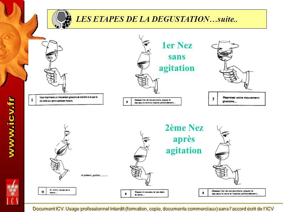 LES ETAPES DE LA DEGUSTATION…suite..
