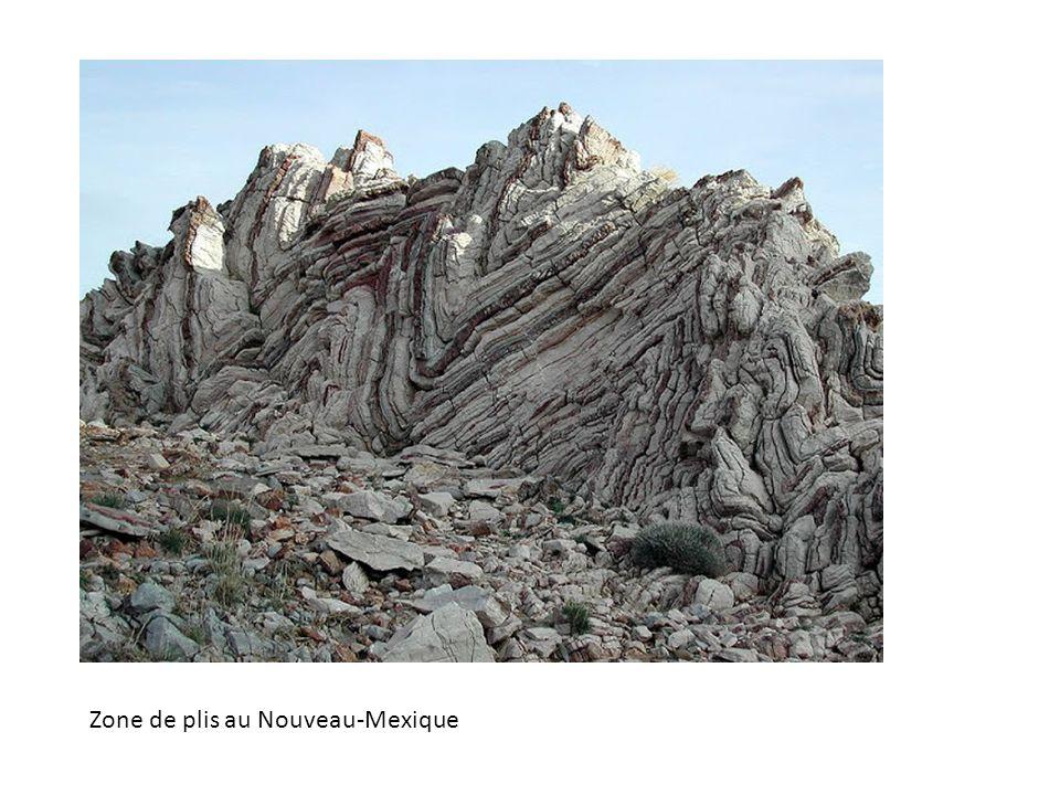 Zone de plis au Nouveau-Mexique
