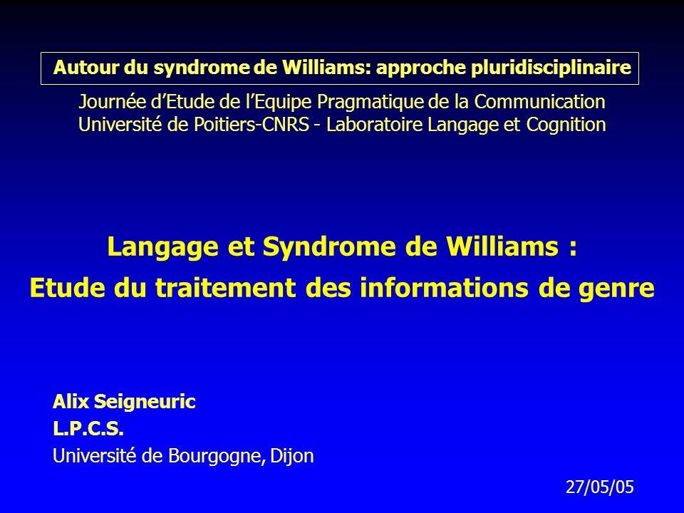 Alix Seigneuric L.P.C.S. Université de Bourgogne, Dijon