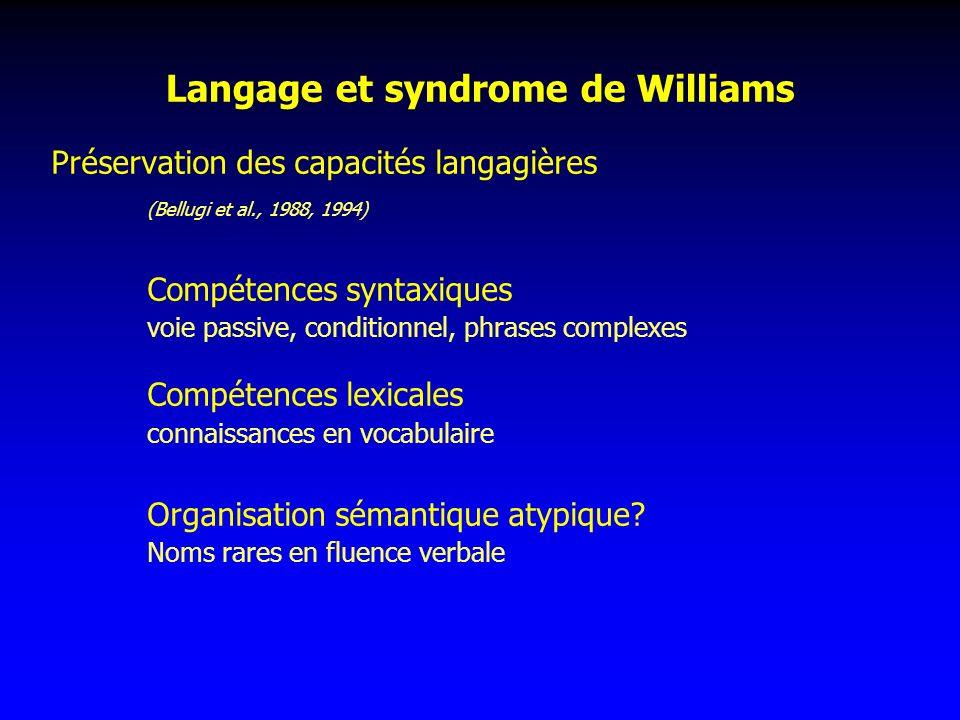 Langage et syndrome de Williams