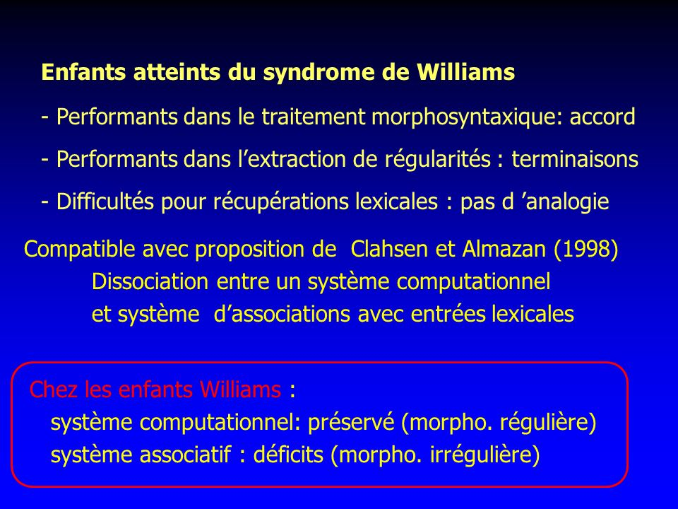 Enfants atteints du syndrome de Williams