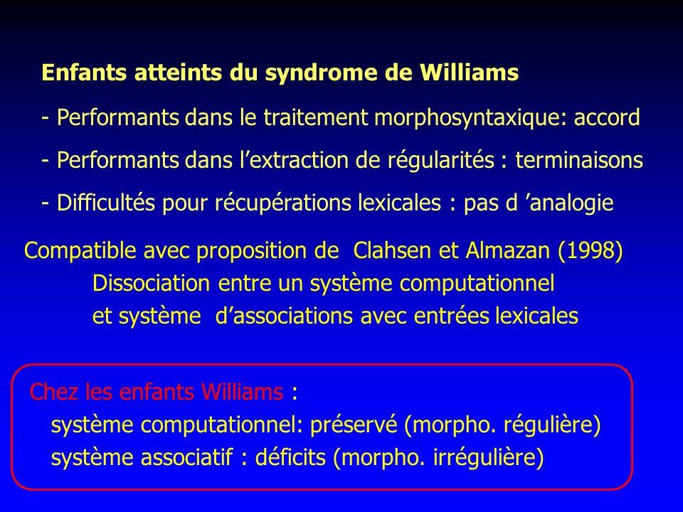 Enfants atteints du syndrome de Williams