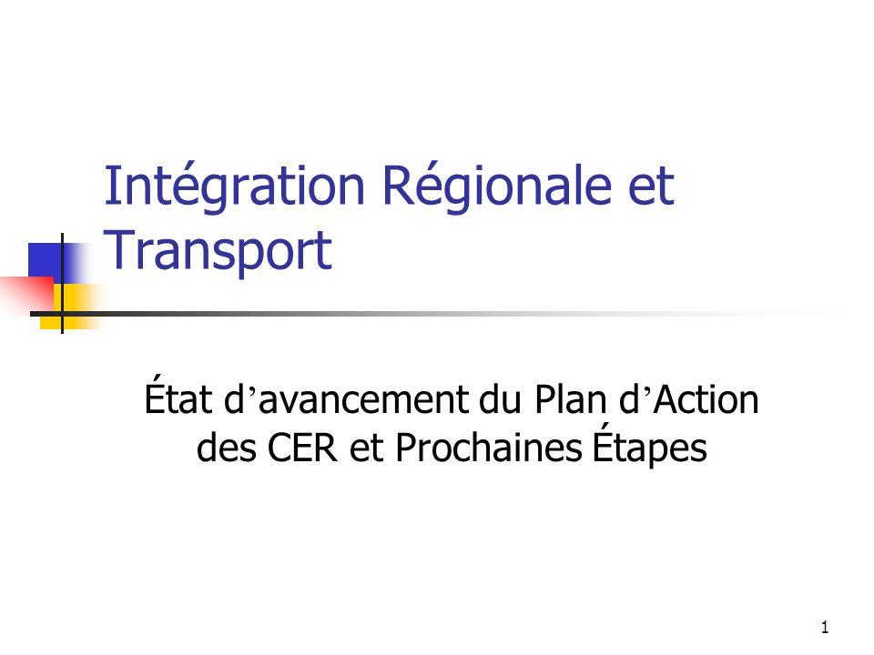 Intégration Régionale et Transport