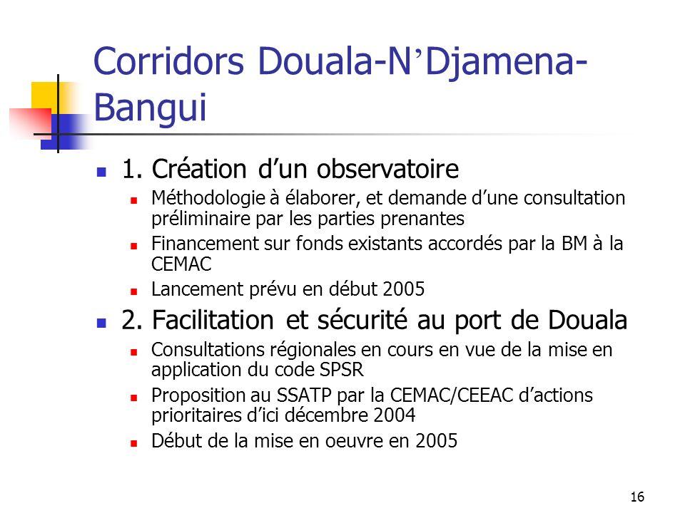 Corridors Douala-N'Djamena-Bangui