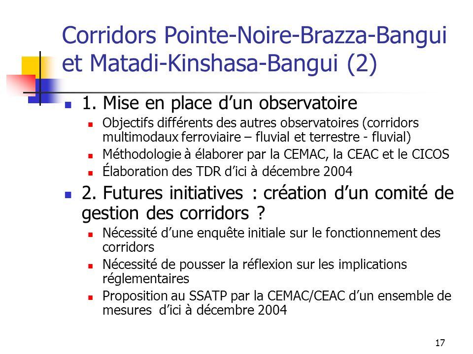 Corridors Pointe-Noire-Brazza-Bangui et Matadi-Kinshasa-Bangui (2)