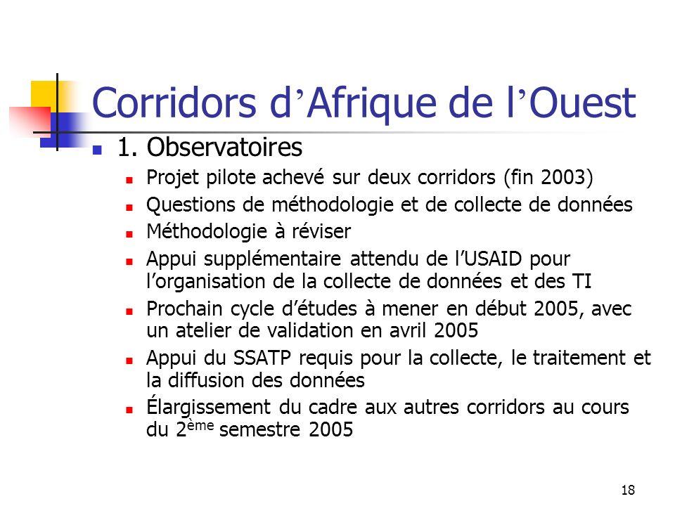 Corridors d'Afrique de l'Ouest