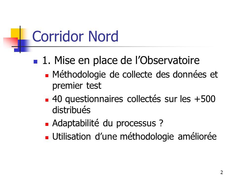 Corridor Nord 1. Mise en place de l'Observatoire