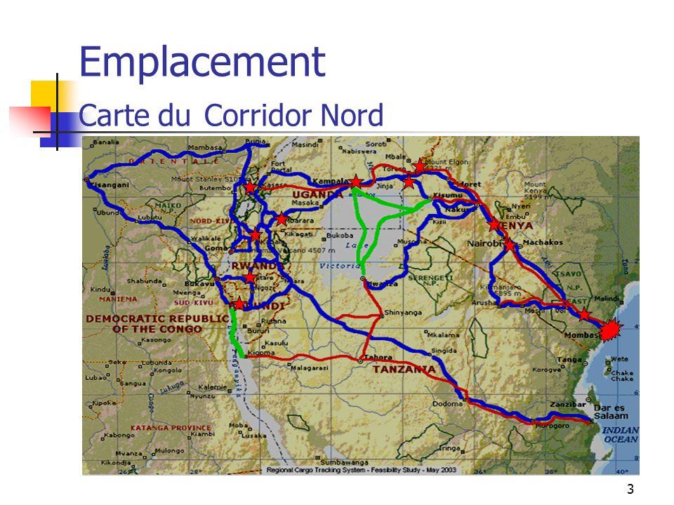 Emplacement Carte du Corridor Nord