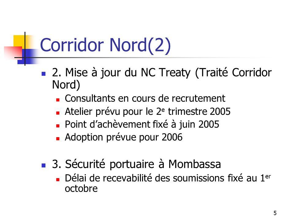 Corridor Nord(2) 2. Mise à jour du NC Treaty (Traité Corridor Nord)