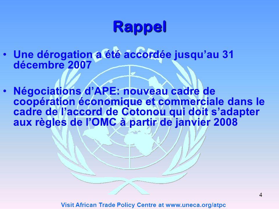 Rappel Une dérogation a été accordée jusqu'au 31 décembre 2007