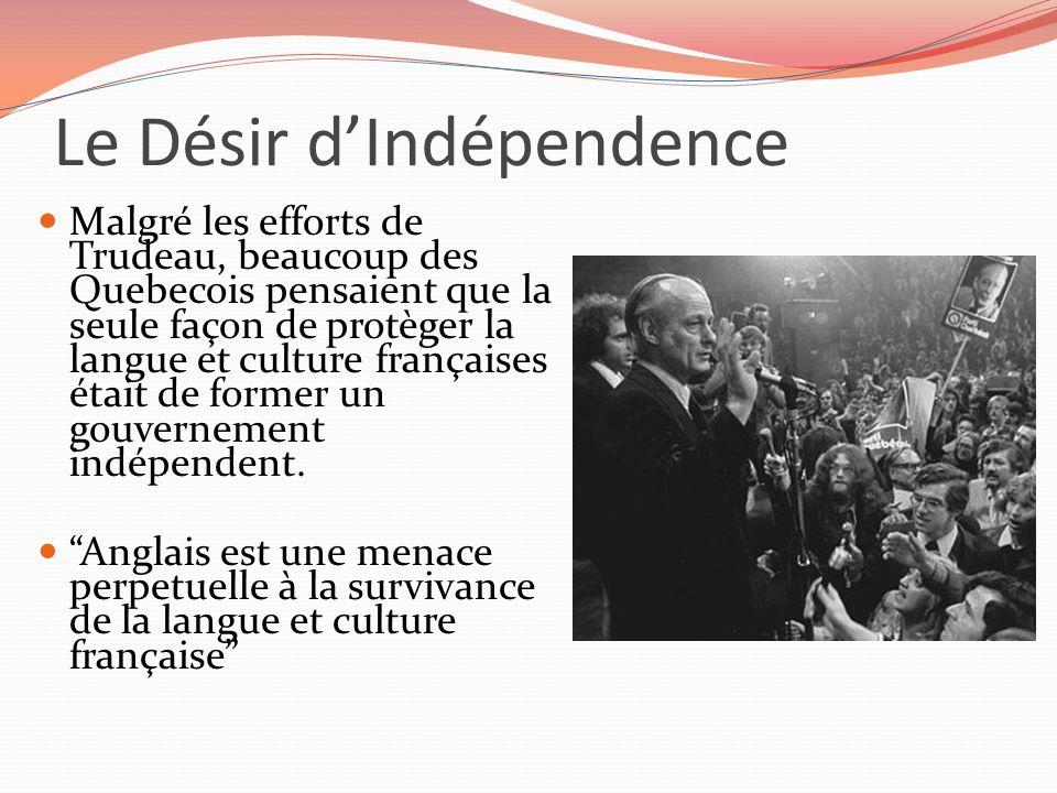 Le Désir d'Indépendence