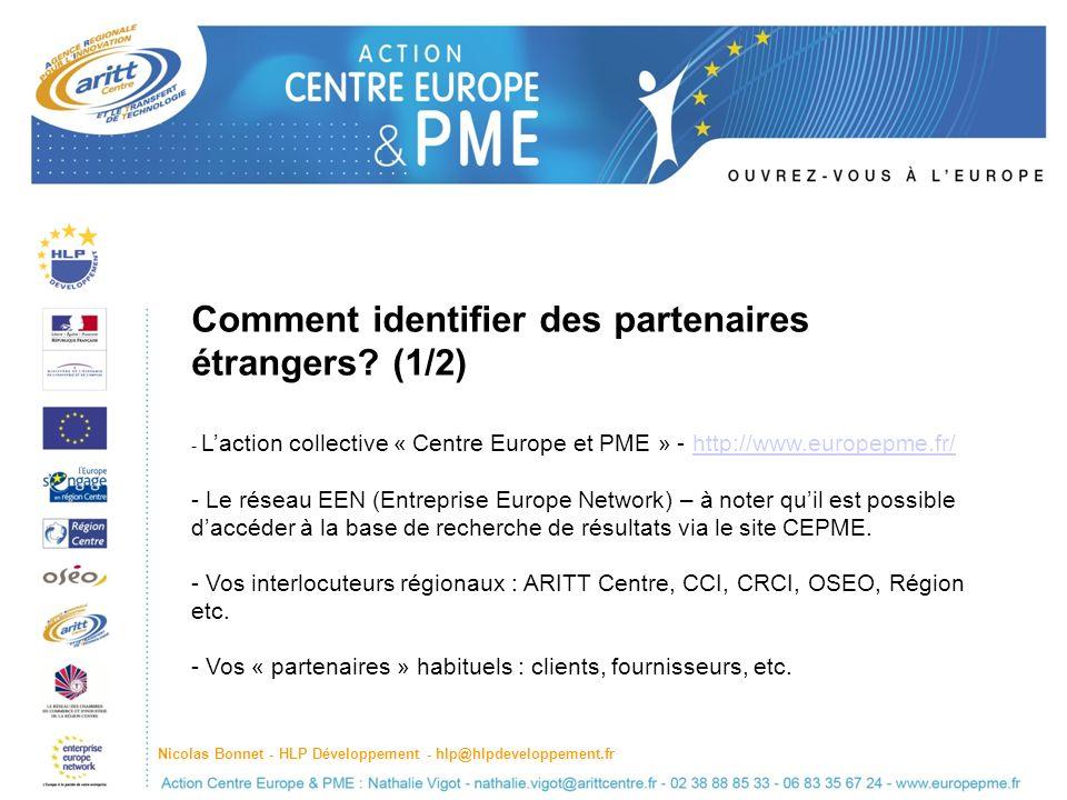 Comment identifier des partenaires étrangers (1/2)