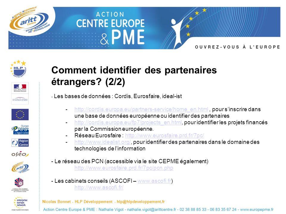 Comment identifier des partenaires étrangers (2/2)