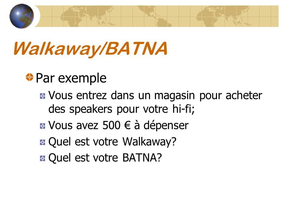 Walkaway/BATNA Par exemple